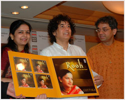 Geetika's album ROOH launched by Zakir Bhai