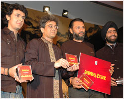 At the launch of Album Bombay Fever at the hands of Singer Sonu Nigam and Film Maker Rakyeh Mehra
