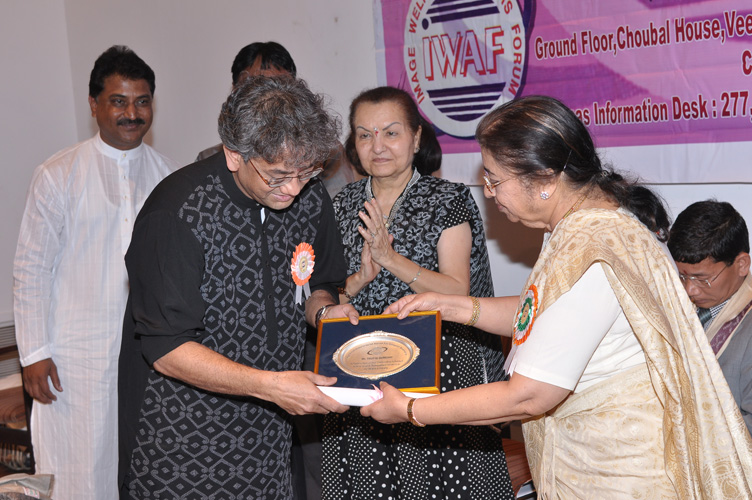 Outstanding Achievement Award honored by Smt Usha Mangeshkar